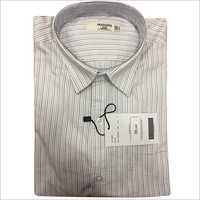 Mens Linen Striped Shirt
