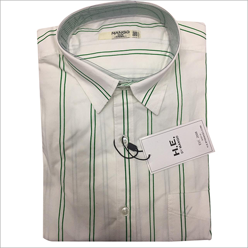 Mens Cotton Striped Shirt