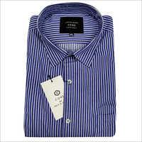 Mens Blue Striped Shirt