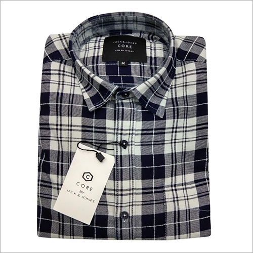 Mens Black and White Check Shirt
