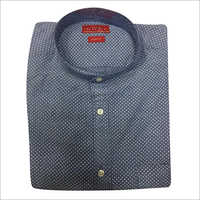 Mens Cotton Dotted Shirt