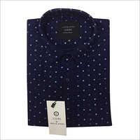 Mens Blue Dotted Shirt