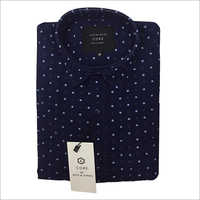 Mens Slim Fit Dotted Shirt