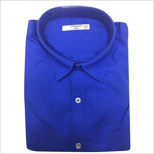 Mens Blue Plain Shirt