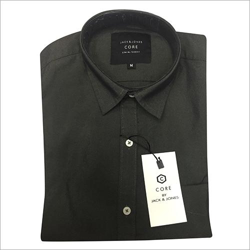 Mens Slim Fit Plain Shirt