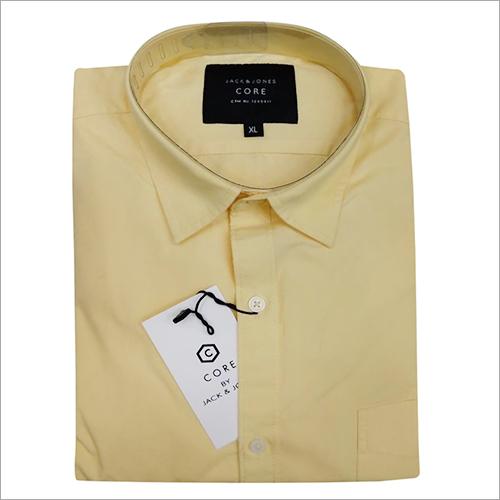 Mens Party Wear Plain Shirt