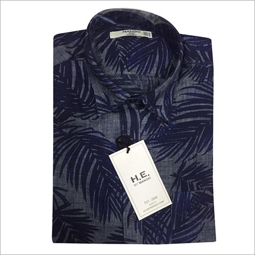 Mens Leaf Printed Shirt