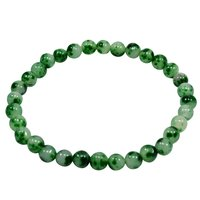 Round Green Quartz Handmade Jewelry Manufacturer Stretch Bracelet, 6mm Beads, Single Strand Bracelet Jaipur Rajasthan India