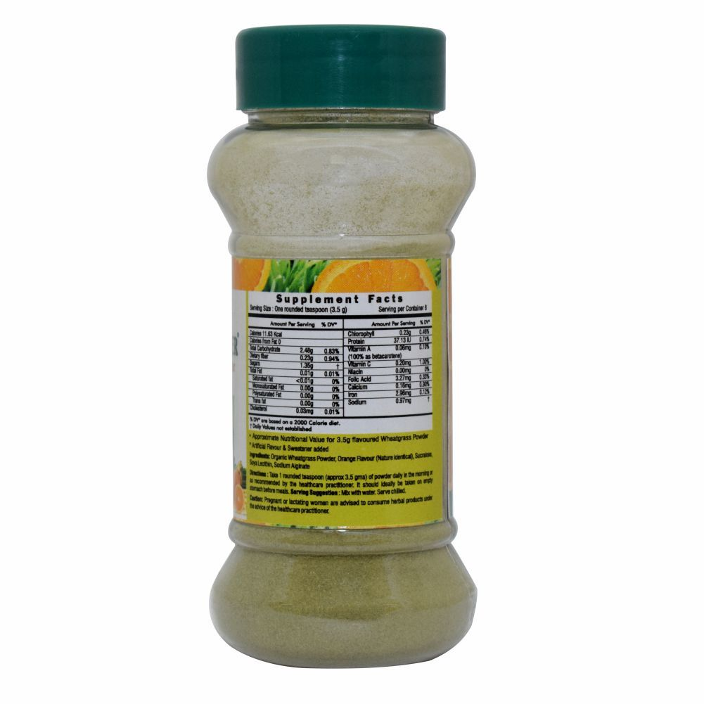 Wheatgrass Wheat-o-power 30gm orange powder - immunity & Blood Purification