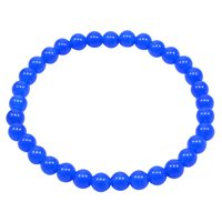 Handmade Jewelry Manufacturer Single Strand, Blue Quartz Round 6mm Beaded, Stretchable Reiki Bracelet Jaipur Rajasthan India