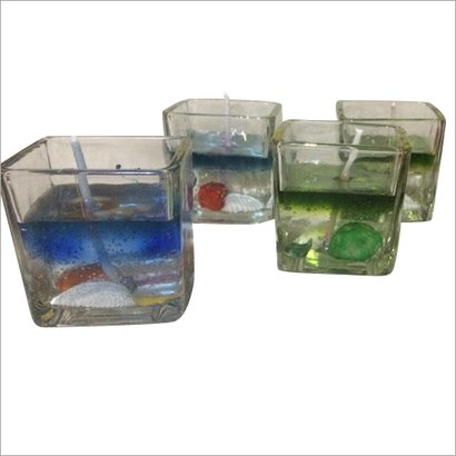 Available In Different Color Glass Gel Candle