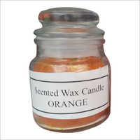 Scented Orange Wax Candle