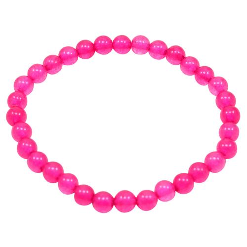 Handmade Jewelry Manufacturer Pink Quartz 6mm, Beaded Layering, Stretchable Bracelet Jaipur Rajasthan India
