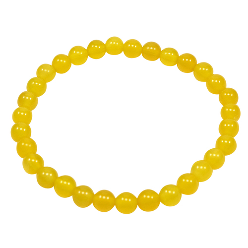 Round Beaded Yellow Quartz Handmade Jewelry Manufacturer Layering, 6mm Round, Healing Bracelet Jaipur Rajasthan India