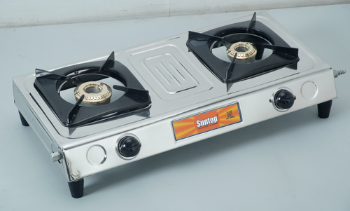 2 Burner SS LPG Gas Stoves