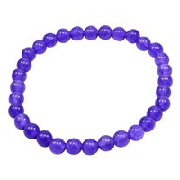 Purple Quartz Handmade Jewelry Manufacturer 6mm Round Beaded, Stretchable Yoga, Jaipur Rajasthan India Healing Bracelet