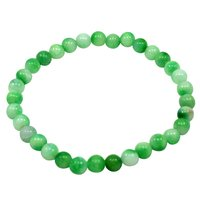 6mm Green Quartz- Handmade Jewelry Manufacturer Stretchable- Beaded- Jaipur Rajasthan India Healing Bracelet