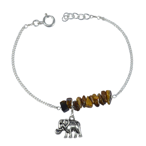 Handmade Jewelry Manufacturer Rough Tiger Eye 925 Sterling Silver Curb-Chain