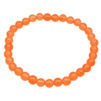 Handmade Jewelry Manufacturer men's Bracelet 6mm Light Orange Quartz, Energy, Yoga, Jaipur Rajasthan India Stretch Bracelet