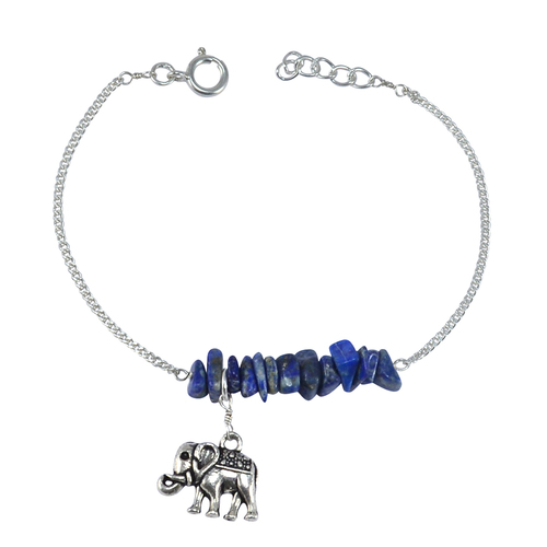Sterling Silver Handmade Jewelry Manufacturer Spring-ring Hook, Lapis Lazuli,