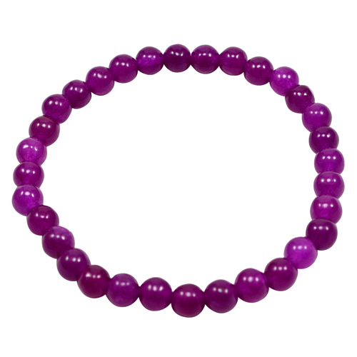 Stretchable Handmade Jewelry Manufacturer Beaded Bracelet- Purple Quartz- Yoga Bracelet Jaipur Rajasthan India