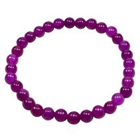 Stretchable Handmade Jewelry Manufacturer Beaded Bracelet- Purple Quartz- Yoga Bracelet Jaipur Rajasthan India