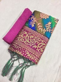 Heavy Embroidery Mysore Silk Saree, Wedding Wear