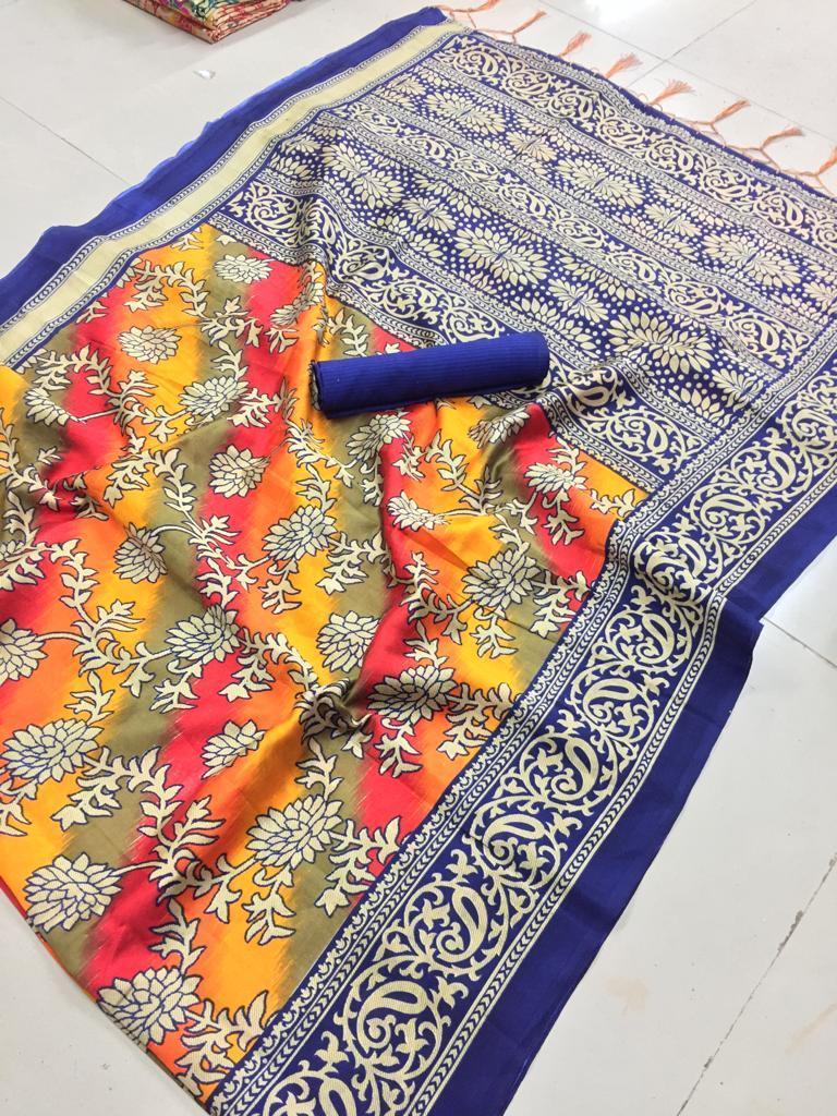 Embroidery Mysore Silk Saree