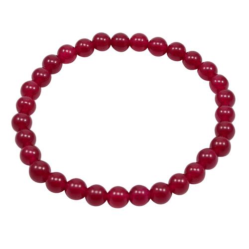Handmade Jewelry Manufacturer Pink Bracelet- Beaded Bracelet- Jaipur Rajasthan India Women- Men- Stretchable Bracelet