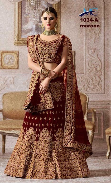 Traditional Wear, wedding Wear, Heavy Embroidery Bridal Lehenga
