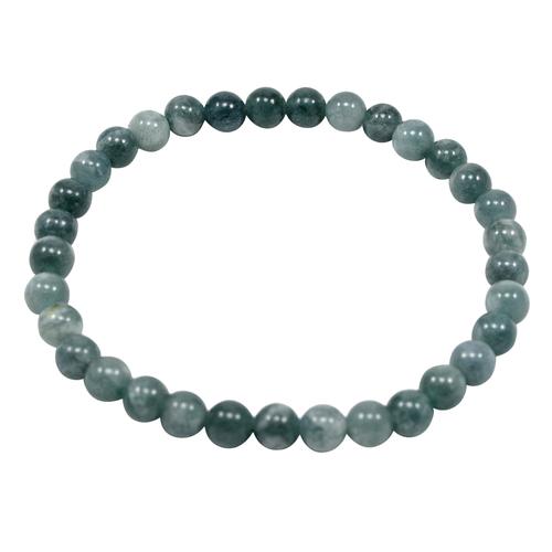 6mm Grey Quartz, Beaded Handmade Jewelry Manufacturer Layering Jaipur Rajasthan India Stretchable Bracelet