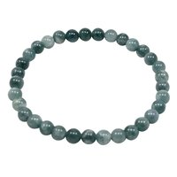 6mm Grey Quartz, Beaded Handmade Jewelry Manufacturer Layering Jaipur Rajasthan India Stretchable Bracelet