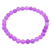 Purple Quartz Bracelet, 6mm Handmade Jewelry Manufacturer Beaded Layering Stretchable Bracelet Jaipur Rajasthan India