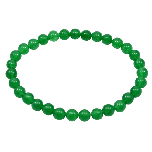 Green Quartz Handmade Jewelry Manufacturer Smooth Round 6mm, Jaipur Rajasthan India Stretchable Beaded Bracelet