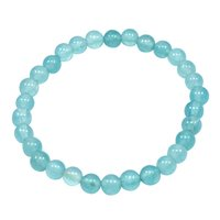 6mm Beaded Light Blue Quartz, Handmade Jewelry Manufacturer Beaded Stretchable Bracelet Jaipur Rajasthan India