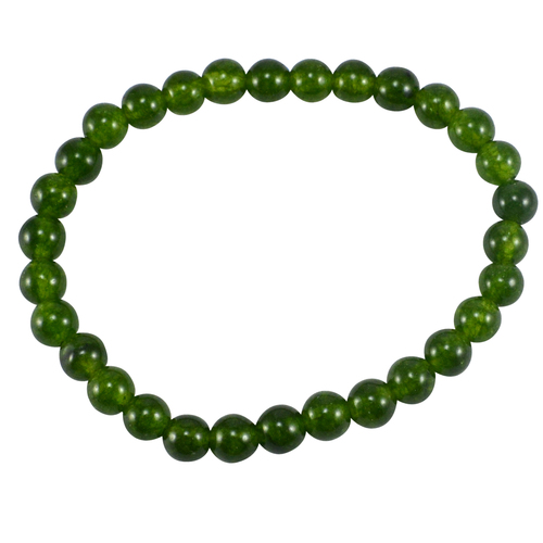Olive Green Quartz- 6mm Beaded- Stretchable Handmade Jewelry Manufacturer Layering Bracelet Jaipur Rajasthan India