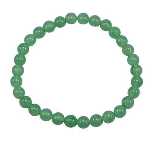 Light Green Quartz Stretchable Handmade Jewelry Manufacturer Bracelet - 6mm Beads- Jaipur Rajasthan India Healing Bracelet