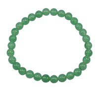 Light Green Quartz Stretchable Handmade Jewelry Manufacturer Bracelet - 6mm Beads- Jaipur Rajasthan India Healing Bracelet