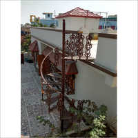 Outdoor Spiral Cast Iron Staircase