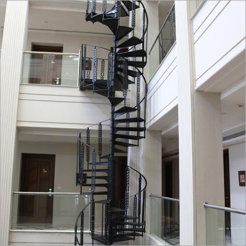Modern Spiral Cast Iron Staircase