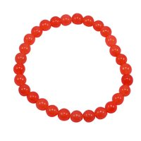 Round 6mm Beaded- Handmade Jewelry Manufacturer Orange Quartz- Jaipur Rajasthan India Stretchable Bracelet