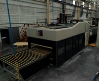 Mould Bending Glass Tempering Furnace For Car Backlites with Double curvature