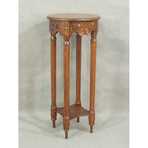 Caravan Carved Round Tall Plant Table