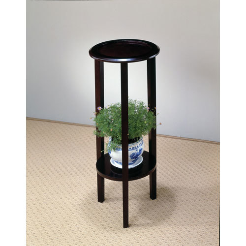 Round Plant Stand Table with Bottom Shelf