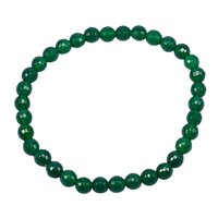 Deep Green Quartz 6mm Beaded Handmade Jewelry Manufacturer Purple Onyx, Stretchable Bracelet For Women Jaipur Rajasthan India