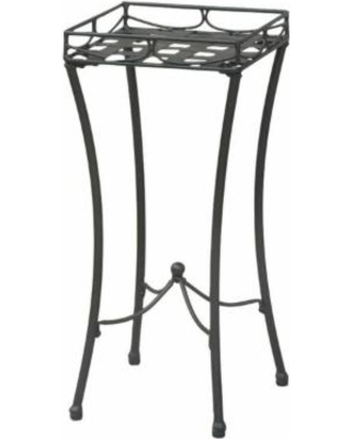 Iron Nailhead Square Plant Stand