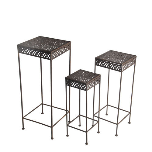 Square Plant Stands Set of Three
