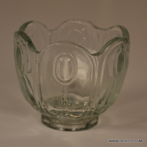Ice Cup Shape Glass Bowl For Kitchen
