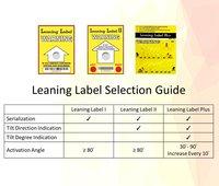 Leaning Label II (Tilt Indicator)