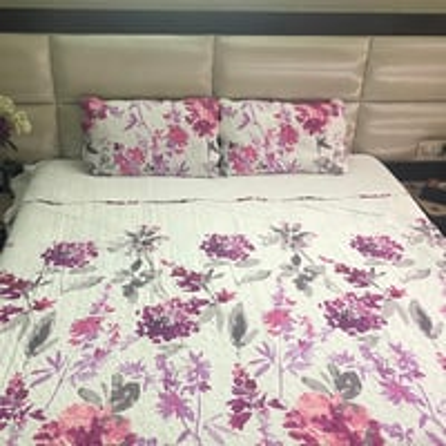 Ink Floral Printed Bed Covers